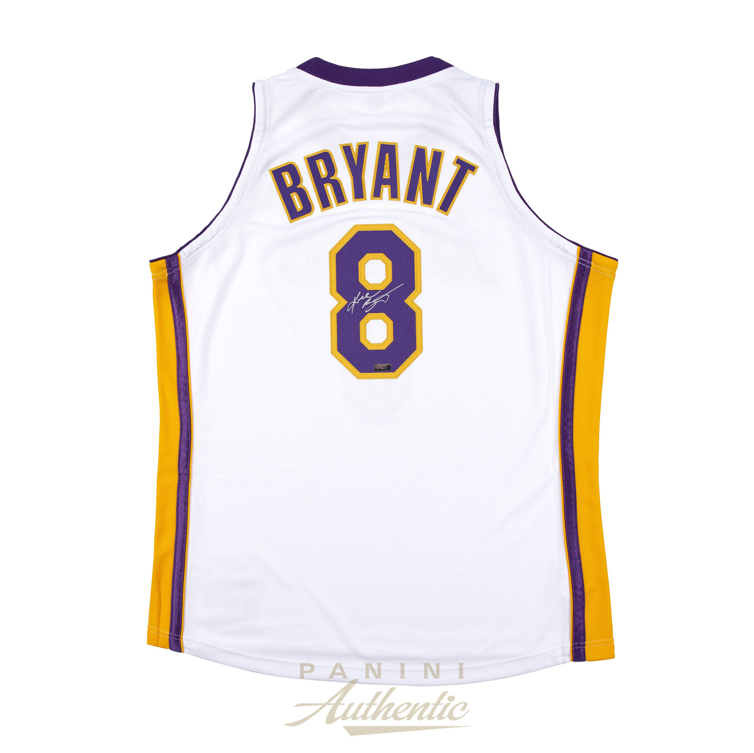 cheap for discount f77e4 b4884 Kobe Bryant Autographed 2003-04 Mitchell & Ness White ...