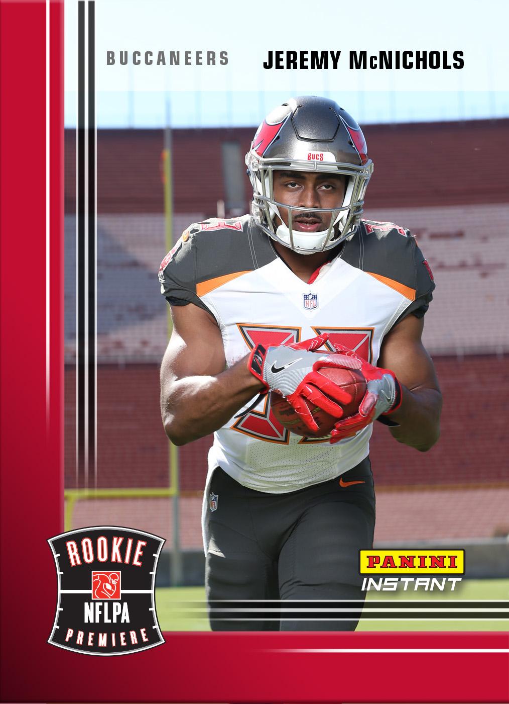 new york 6d5d3 39f69 Jeremy McNichols- 2017 Panini Instant NFL Rookie Premiere ...
