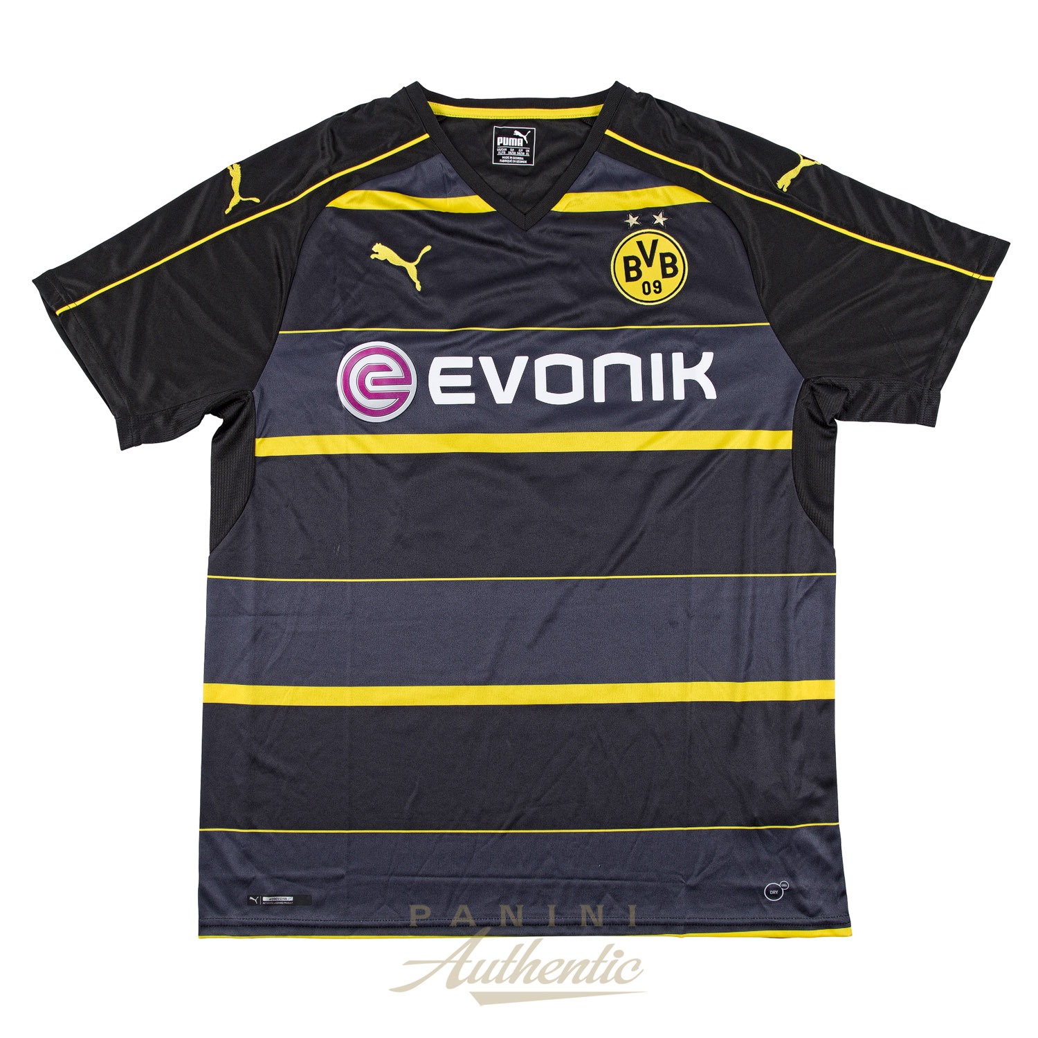 new product 27f8c 906cd Christian Pulisic Autographed Borussia Dortmund Black #22 ...