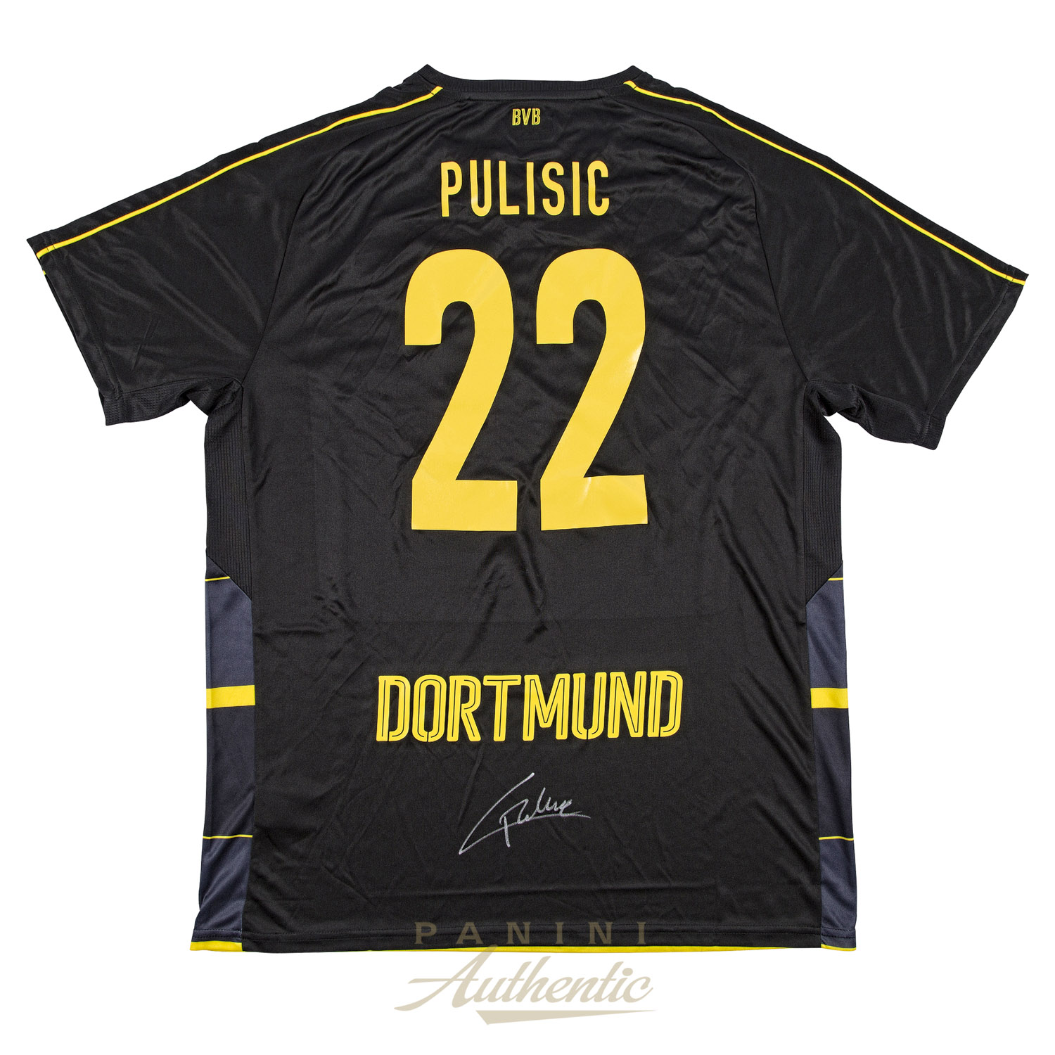 new product e94ab 4928b Christian Pulisic Autographed Borussia Dortmund Black #22 ...